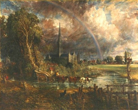 John Constable Salisbury Cathedral Meadows exhibited 1831