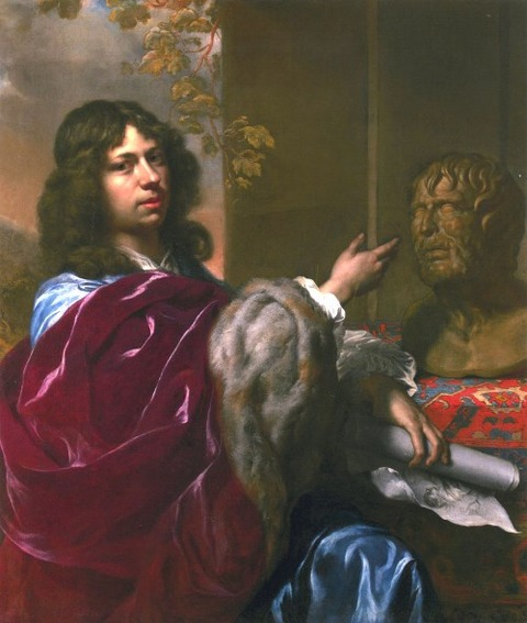 Matthäus Merian II  Self-portrait of with  Seneca 1645-46