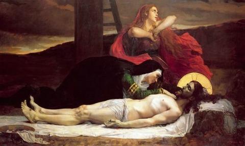 Christ Taken down from the Cross, Jean-Joseph Weerts 1875