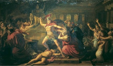 The Death of Priam by Pietro Benvenuti (1769—1844)