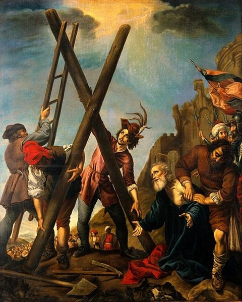 The crucifixion of St Andrew Pierre Castoni after Carlo Dolci
