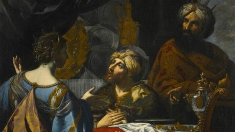 Intercession Esther Ahasuerus  Haman  Pietro Paolini  1625