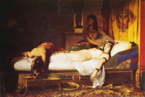 Jean André Rixens The Death of Cleopatra