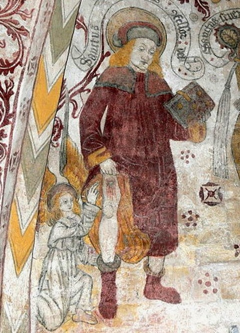 Fresco of Saint Rochus