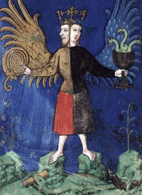 Coroado Hermafrodita Andrógino ou Rebis 1400