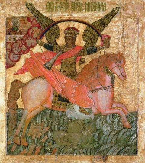 Archangel Michael triumphing over Antichrist