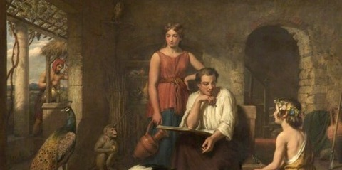 Aesop Composing His Fables  Charles Landseer -