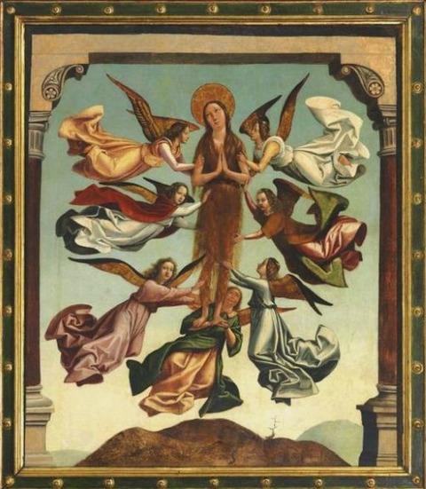 exaltació de Maria Magdalena atribuïda a Juan de Borgoña