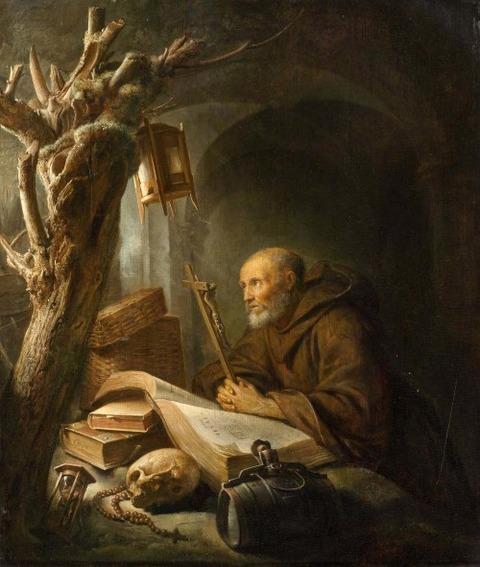 DOU, GERRIT Hermit at prayer 1670