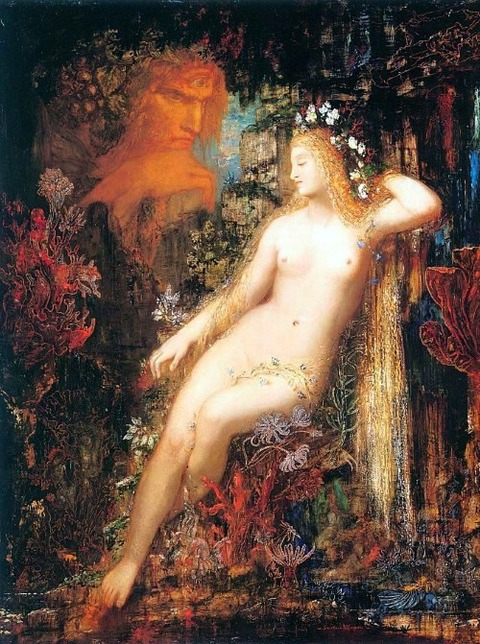 Polyphemus spies on the sleeping Galatea Gustave Moreau 1880