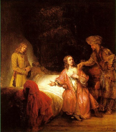 Joseph Accused by Potiphar's Wife', Rembrandt, 1655