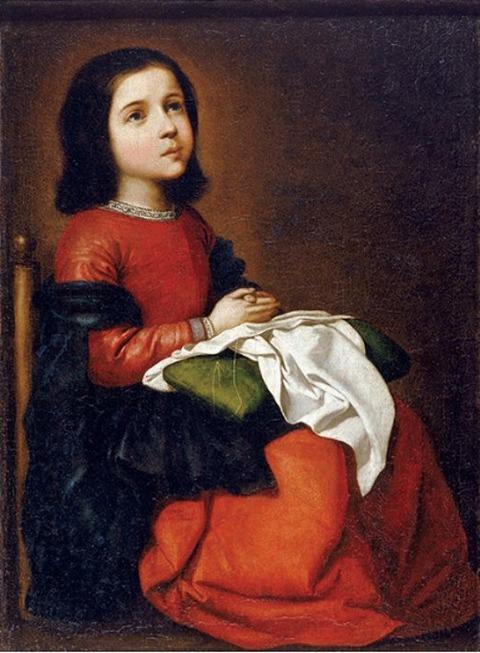 フランシスコ・デ・スルバラン《聖母マリアの少女時代》