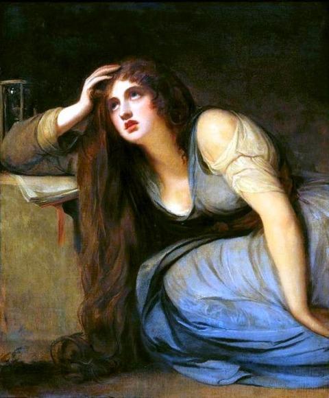 Lady Emma Hamilton penetant Magdalene George Romney
