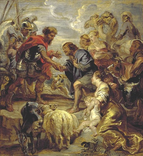 Peter Paul Rubens, The Reconciliation of Jacob and Esau, 1624