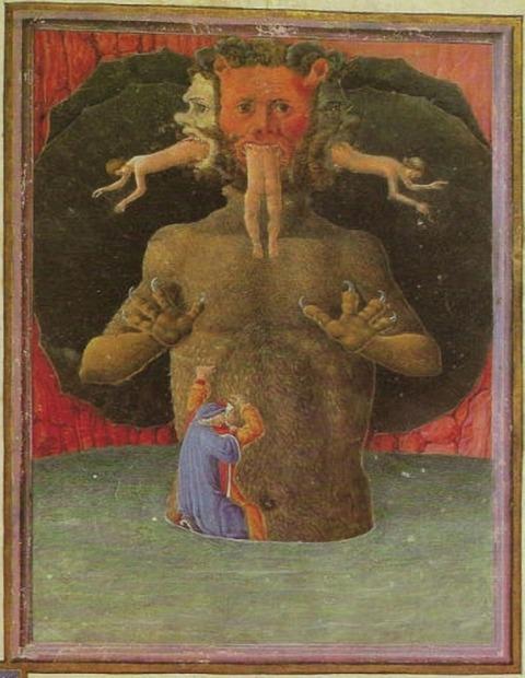 Lucifer, Dante's Divina Comedia in the version
