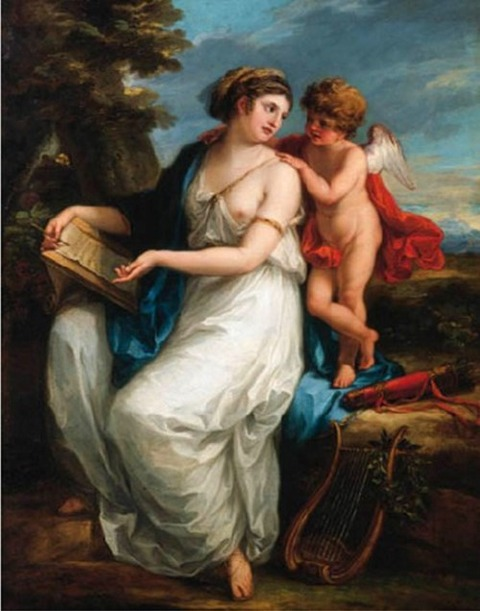 Sappho Inspired by Love by Angelica Kauffmann 1775