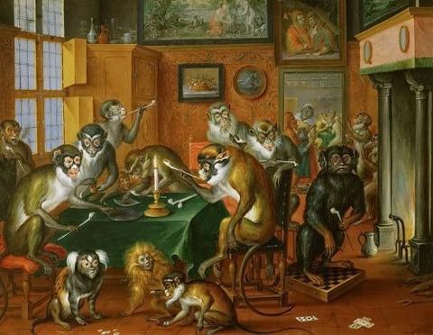 Abraham_Teniers_Tabakskollegium_van_apen