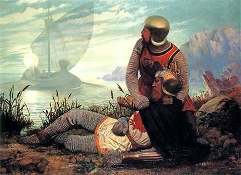 The Death of Arthur, by John Garrick 1862