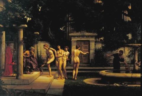 Edward Poynter  A Visit to Aesculapius (1880)
