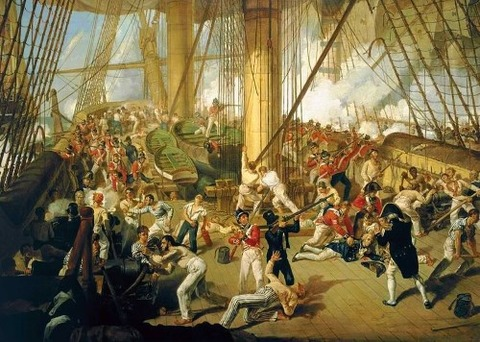 BATTLE OF TRAFALGAR 1805 Nelson by Denis Dighton