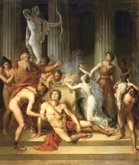 Circle of Pierre-Narcisse, Baron Guerin Death of Achilles 1820