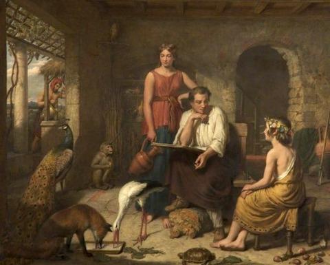 Aesop Composing His Fables  Charles Landseer