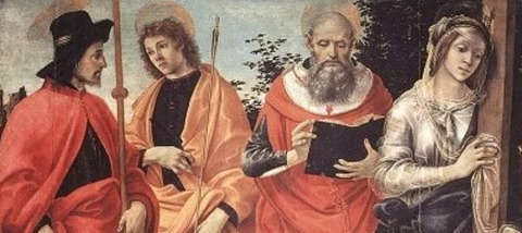 Filippino Lippi Four Saints Altarpiece art painting2