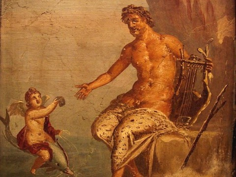 Polyphemus receives love-letter from Galatea 1 AD fresco Pompeii