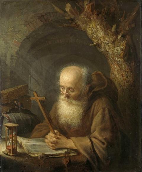 Gerard Dou A hermit. 1664