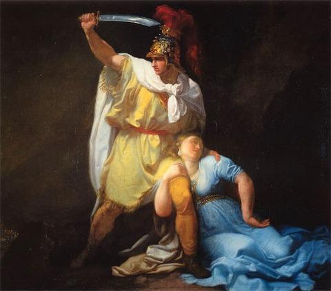 Rhadamistus killing Zenobia  Luigi Sabatelli  1803