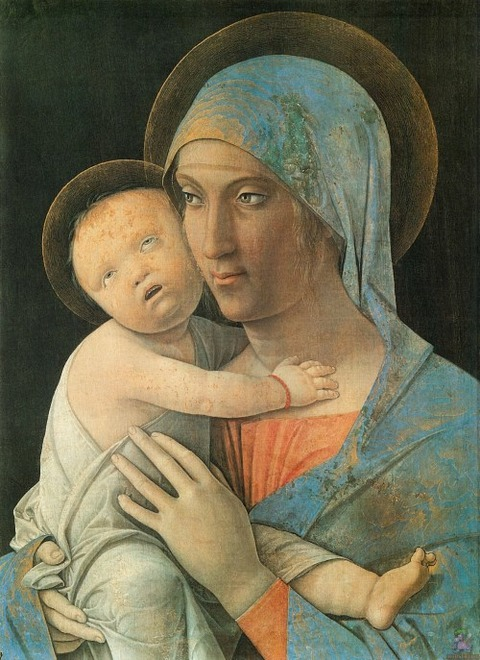 virgin-and-child-1495 Andrea Mantegna