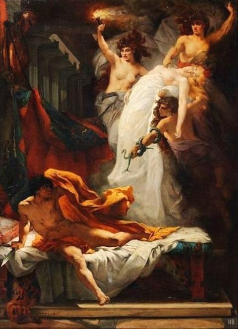 Orestes Furies Jacques Francois Ferdinand Lairesse