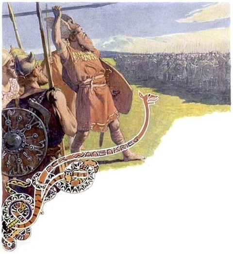 The Vanir War by Emil Doepler 1900