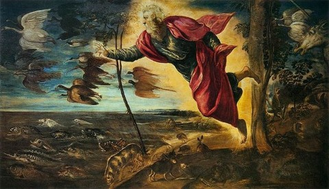 Jacopo Tintoretto - Creation of the Animals 1551-52