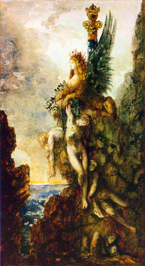 the-victorious-sphinx-1886 Gustave Moreau