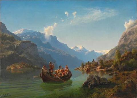 ハダゲンフィヨルドでの結婚 Hans Guide&Adolph Tidemand 1848
