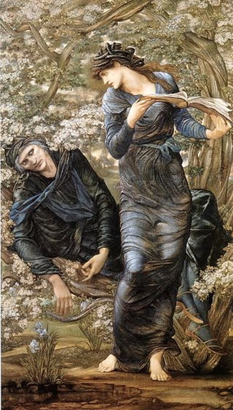 Nimue,  Lady Lake  Beguiling of Merlin  Edward Burne-Jones