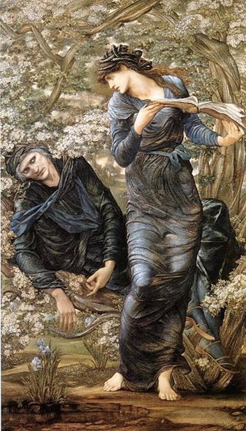 Nimue,  Lady Lake  Beguiling of Merlin  Edward Burne-Jones
