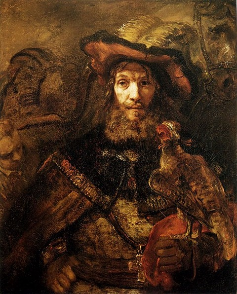 Man with a Falcon on his Wrist (possibly St. Bavo) 1661