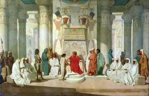Joseph Explaining Pharaohs Dreams by Jean Adrien Guignet