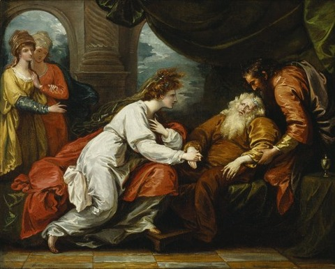 1793 King Lear and Cordelia by Benjamin West