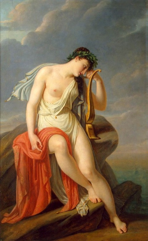 Sappho on the Leucadian Cliff Guerin Pierre Narcisse
