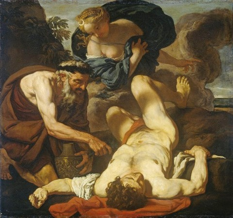 Selene And Endymion by Attributed to Johann Carl Loth