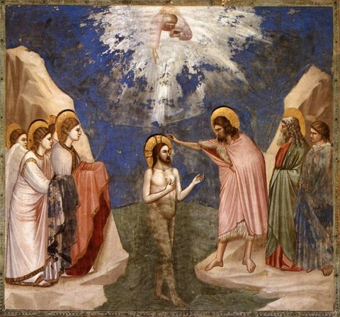 The Baptism of Christ, 1305 - Giotto