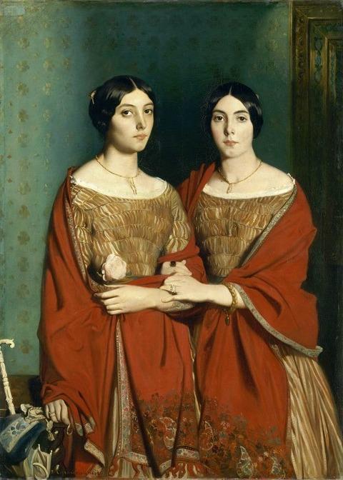 Théodore Chassériau Aline et Adèle, soeurs de Théodore 1843