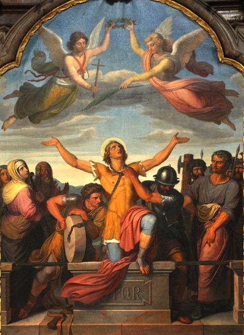 Schultz's 19th-century Martyrdom of St. Florian