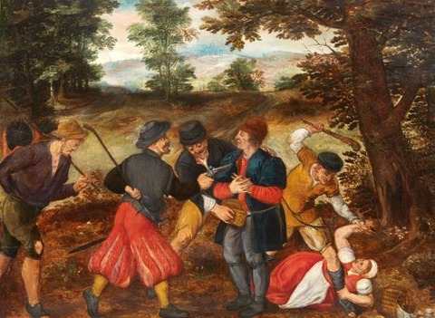 Flemish School, 17th A Robbery on a Country Road