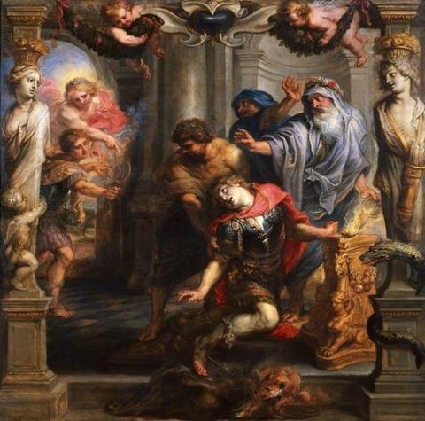 Death of Achilles  Peter Paul Rubens 1630-35