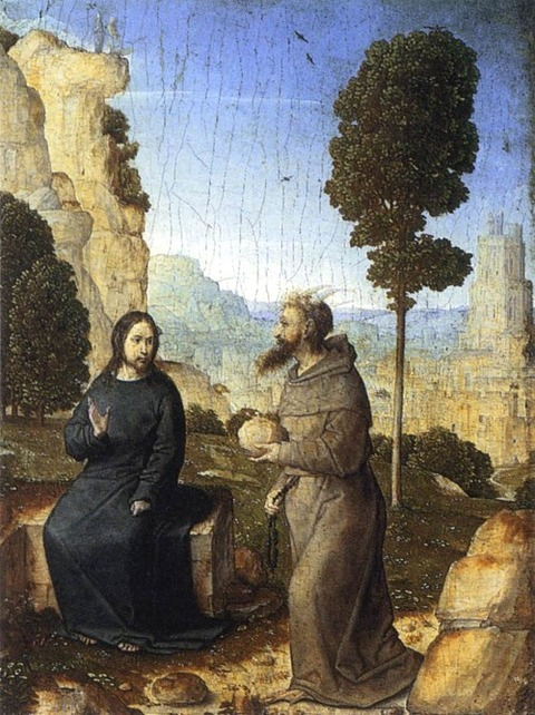 Juan de Flandes  The Temptation of Christ  1500