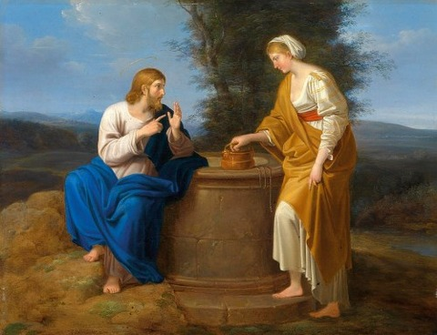 Ferdinand Georg Waldmueller  Christ Good Samaritan Well
